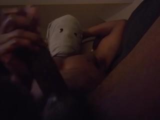 Anonymous masturbates dick...
