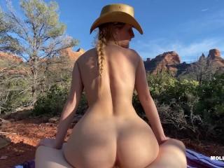Cowgirl rides mountains sex pov...