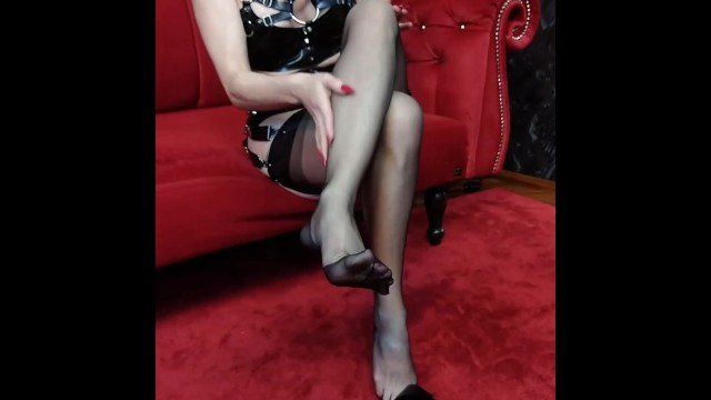 Black latex & fully-fashion nylons 11