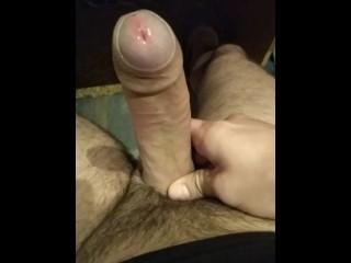 Waching porn masturbating my cock...