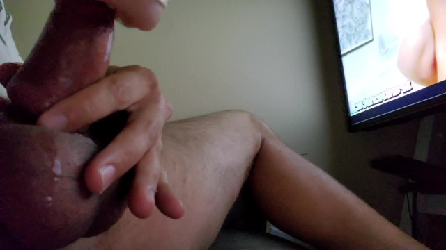 Elctronic cock ring Edging my cock with new cock ring, so desperate to cum, load moaning finish
