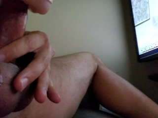 Edging My Cock with New Cock Ring, So Desperate to Cum, Load Moaning Finish