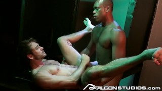 FalconStudios - Reserved Businessman Visits Glory Hole Booth