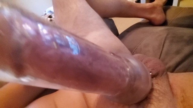 How do peniss grow Using penis pump to stretch cock for you, sexy moans till it grows and fills