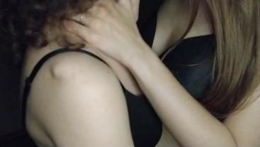 ASMR kiss lesbian girls