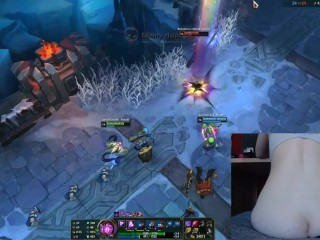 Anal for every death (inflatable plug) I almost cried League of Legend #7 Luna