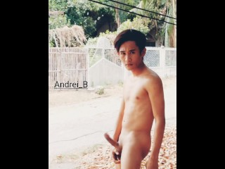 Strolling while nude outdoors...