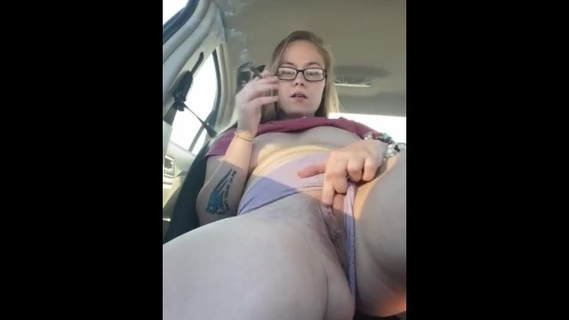 Naked glasses Roadtrip play..so many truckers drove by and got a show