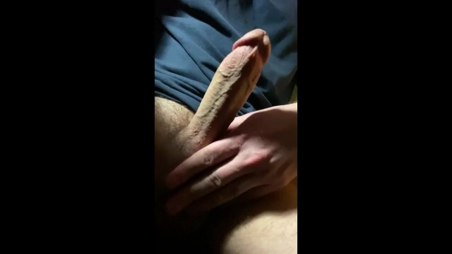Taping penis Real amateur homemade masturbation jerking off dick - playing with cock horny solo male sex tape