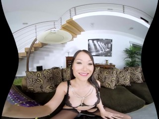 Asian PussyKat in naughty VR porn solo
