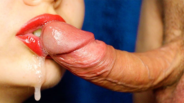 Anal stimulation for sustained erection Sustainable blowjob close cum in her mouth
