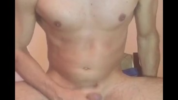 Young guy with hot body share his cum with you