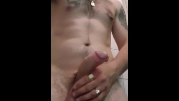 jerking of and moaning until I shoot a HUGE load of cum for your pretty face