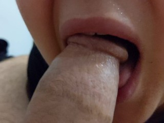 She Gave Me A Super Blowjob Sloppy Oral Creampie