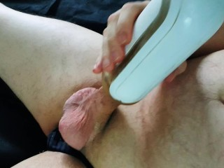 Solo Chubby Guy Fucks His Tenga Toy With Moaning Orgasm 1080P