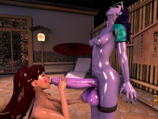 Futa WidowMaker & Dva - ANAL BATH PART1
