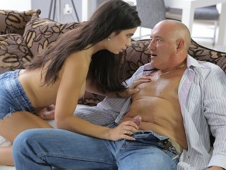 Old4k pretty nice lassie enjoys with old man...