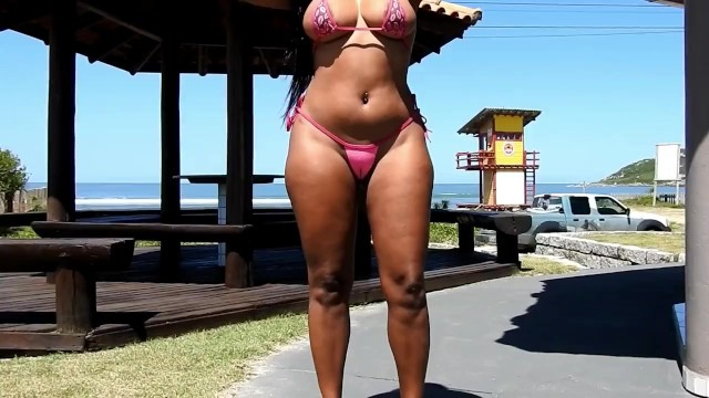 Meme micro bikini Public micro bikini and body painting thong