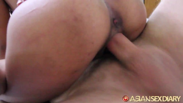 ASIANSEXDIARY Slutty asian destroyed by foreign dick 15