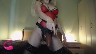 Red lingerie strapon show (prerecorded)