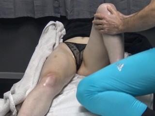 Famous fitness model seduce as wearing transparent panties...