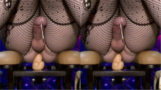 fuck machine deep anal training and hot cumming ( femboy sissy trap cd )
