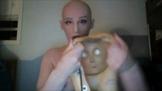 May vs Reni Pt1! Masking in female masks May and then Reni!
