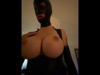 Big latex tits