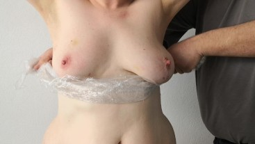 Foil wrapping tits