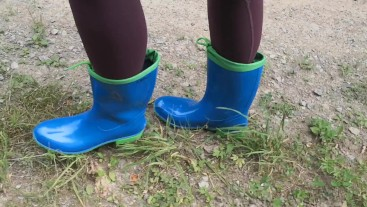 Go for a walk in rubber boots
