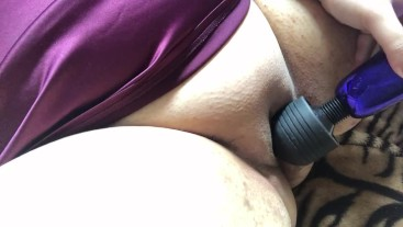Leading To Intense Orgasm With Wand Vibrator Solo Play Female