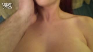 Redheaded Teen with 36DDD Tits Fucks A Fat Dick