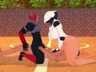 3 bbw haydee x huntress threesome...