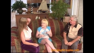 Kinky Bi Parents teach a TEEN