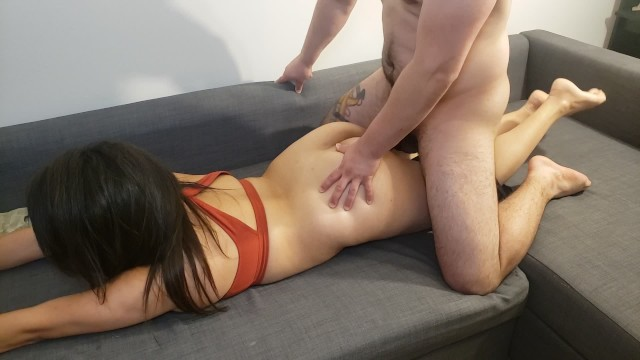 Amateur Latina gets fucked by roommate before husband comes home 15