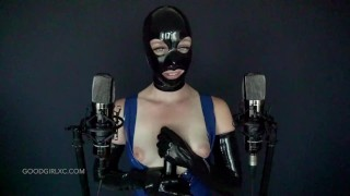 Latex Hood and Gloves, Rubber ASMR JOI