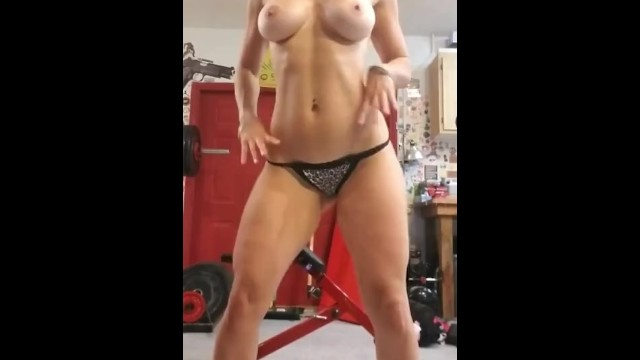 Brylee naked Fit milf working out naked in gym