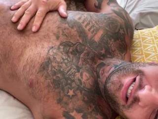 In bed big bulge...