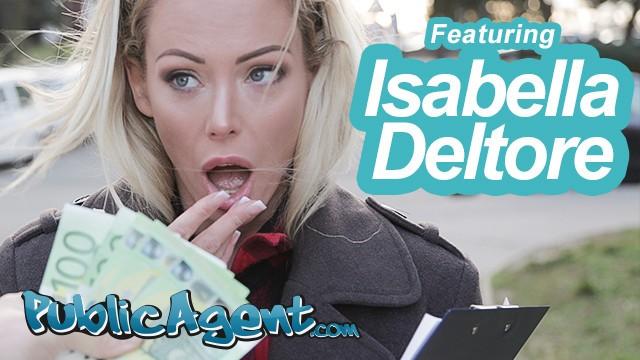 Public Agent Blonde Australian Isabelle Deltore Fucks a Stranger for Money