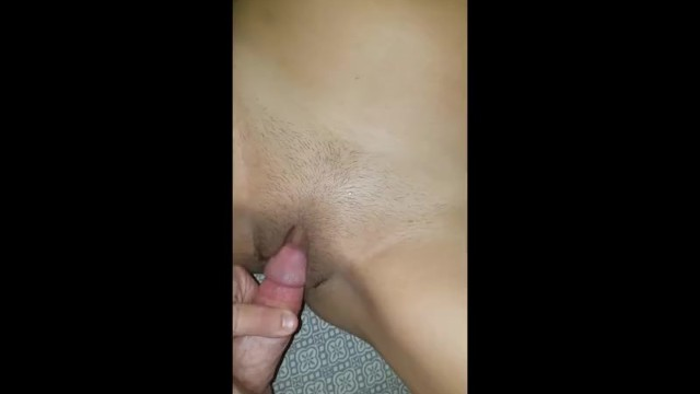 Rubbing my hard cock on my Indian wifes pussy before sex 10