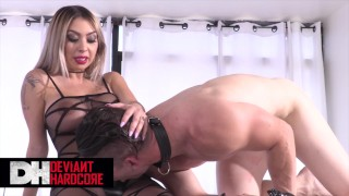 Deviant Hardcore – Kat Dior Pegs Her Worthless Submissive Boy Toy
