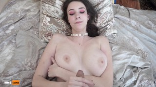 Fucked 18 year old girlfriend and cum on her tits. Tall girl rides a Cock!!!