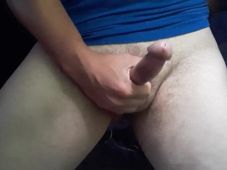See studs Dick veins swelling while he strokes his hard cock. See him cum up close