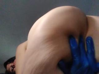 Old pinkmoonlust anus bends over anal fingers asshole...