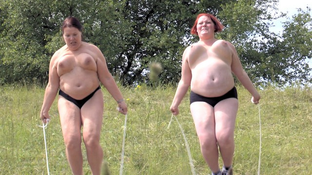 Big boob jump rope User request - 2 lesbians jumping rope