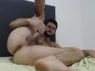 Young shows ass feet hole and moans loud...