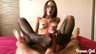 MY CUTE LEGS IN STOCKINGS - DEMON GIRL