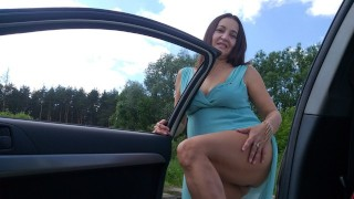 My friend's mom drove in a car with me for sex!