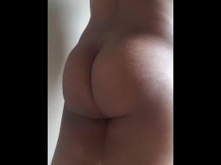 Dick masturbating in front of the window...
