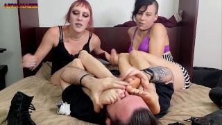 Mystick Moons & Kori Kummmings- Lesbian Surprises g/f /w Foot Slave HJ
